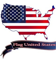 Flag United States button icon sticker isolated so vector image vector image