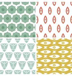 Four tribal shapes abstract geometric patterns and vector image vector image
