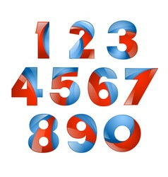 Number set colorful 3d volume icon design for vector image