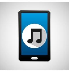 Social media mobile music icon vector