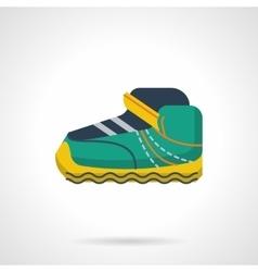 Sport sneaker flat color design icon vector image vector image