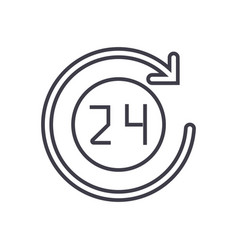 24 hours icon sign vector image