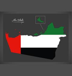 Abu dhabi map united arab emirates vector