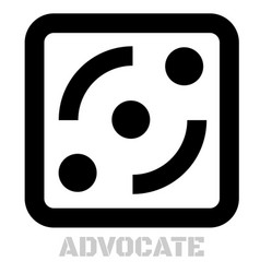 Advocate conceptual graphic icon vector