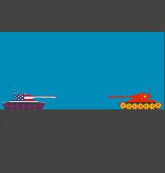 american vs chinese tank vector image