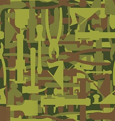 Army pattern tool Military camouflage texture of vector
