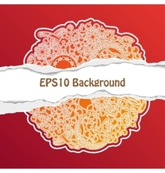 Background with Ornate Floral Pattern vector image