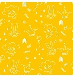 Bapattern design nursery kid background vector