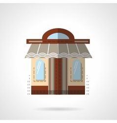 Barbershop facade flat color icon vector image