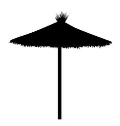 beach umbrella silhouette vector image