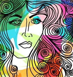 Beautiful woman face vector image