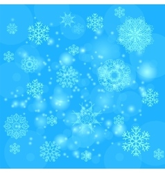 Blue Snowflakes Background vector