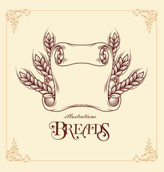 breads ribbon template vector image