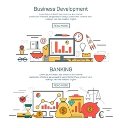 Business development and banking banner concepts vector