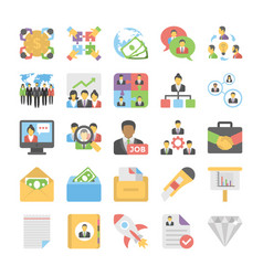 Business flat colored icons 6 vector