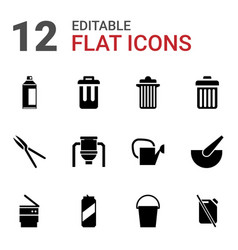Can icons vector