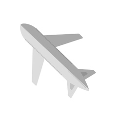 Cartoon airplane travel business vacation vector