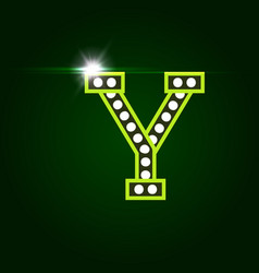 Casino and resort letter y luxury letter vector