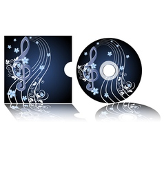 cd label with the treble clef vector image