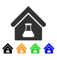 chemical labs building icon vector image