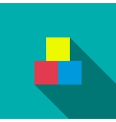 Children cubes icon flat style vector image