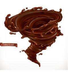 Chocolate tornado 3d realistic vector