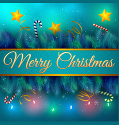 Christmas holiday card vector