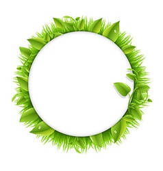 Circle With Grass And Leafs vector image vector image