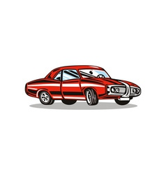 Classic Red Car vector