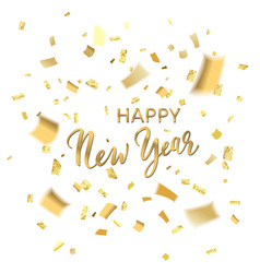 confetti happy new year vector image