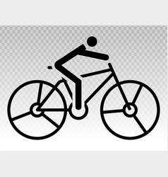 Cycling cyclist line art icon for apps or website vector