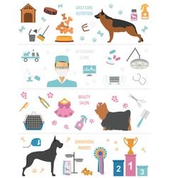 Dog info graphic template Heatlh care vet vector