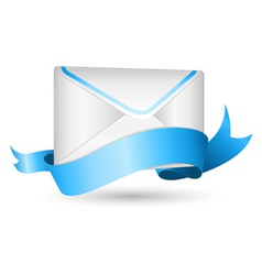 Envelope with ribbon vector