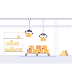 factory packing and store concept warehouse with vector image