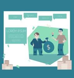 financing new projects and startups concept on vector image