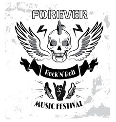 forever rock n roll music fest vector image
