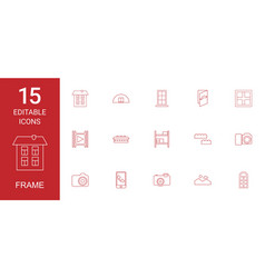frame icons vector image
