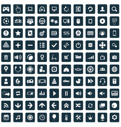 game 100 icons universal set for web and ui vector image