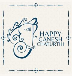 Ganesh mahotsav greeting design hindu festival vector