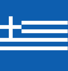 greece flag icon in flat style national sign vector image