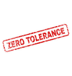 Grunge zero tolerance rounded rectangle stamp vector