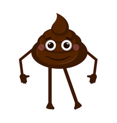 Happy poop emoji vector