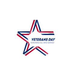 Happy veterans day november 11th veterans day vector