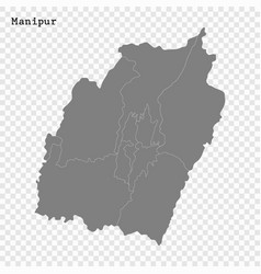 high quality map state india vector image