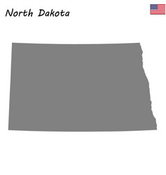 high quality map state of united states vector image
