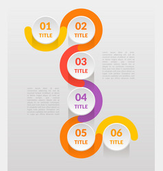 horizontal-vertical steps infographics - can vector image