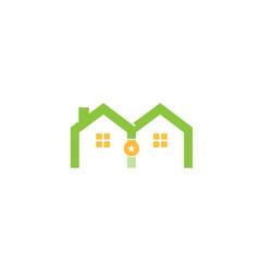 house romedal logo symbol logo vector image