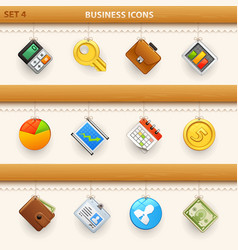 hung icons - set 4 vector image