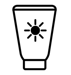 isolated sunscreen icon vector image
