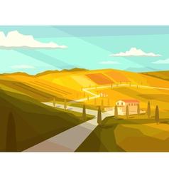 Italian Tuscany landscape vector image